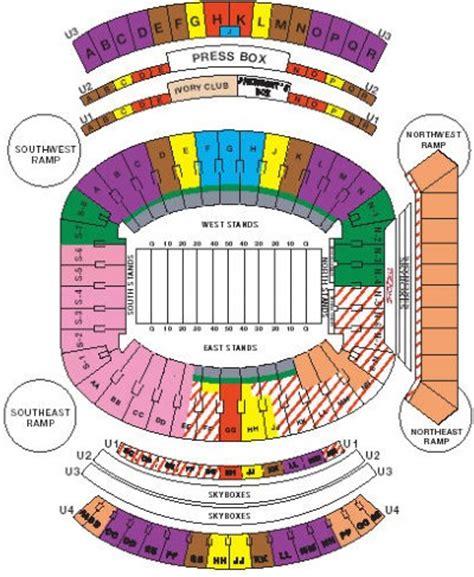 alabama football stadium seating chart bryant denny stadium map my