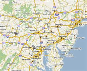 map maryland and pennsylvania philadelphia courier areas served geographic