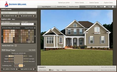 paint color tool exterior house paint simulator