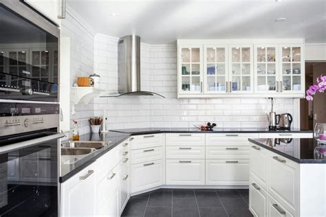ikea subway tile bodbyn google search dark floors and counters white