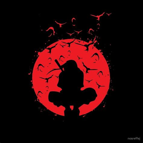 New Product Kaos Anime Seal Kyuubi silhouette itachi print samsung stationery and