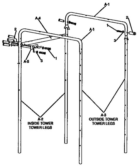 hedstrom swing set parts hedstrom playground equipment tower parts model 4 2259