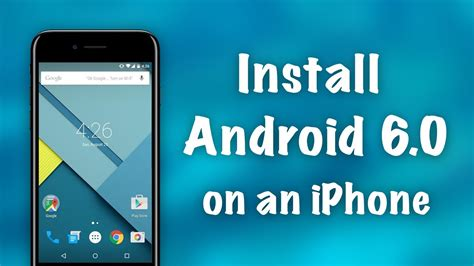how to install android on iphone how to install android 6 0 on an iphone no jailbreak