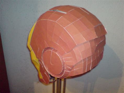 Ironman Helmet Papercraft - iron 3 helmet paper crafts