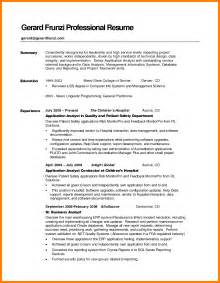 Career Summary Resume Exles by 8 Exles Of Resume Summary Resume Reference