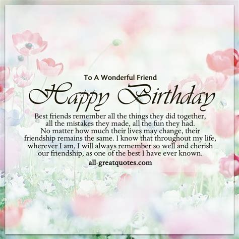 Best Friend 21st Birthday Quotes To A Wonderful Friend Happy Birthday Best Friends Quotes