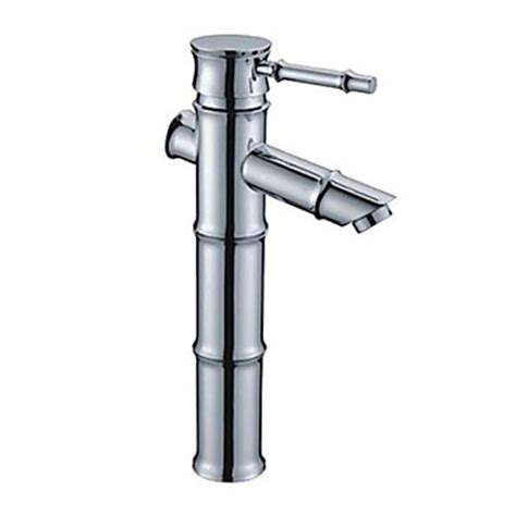 Bamboo Faucets by Bamboo Shape Design Chrome Finish Brass Bathroom Sink