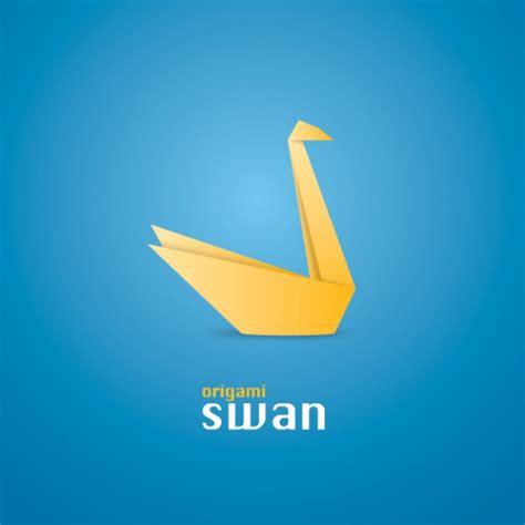 Paper Swan - origami swan vector free