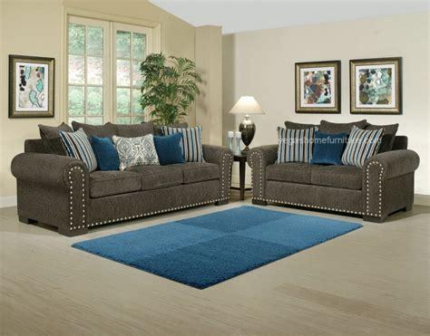 Razor Grey And Turquoise Living Room Las Vegas Furniture