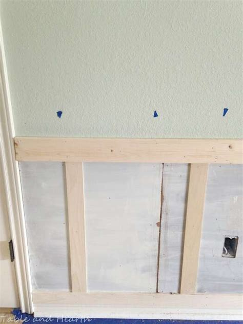 Wainscoting Spacing by Our Diy Board And Batten Wainscoting Table And Hearth
