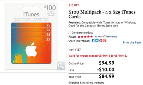 Itunes 100 Gift Card Multipack 4 25 - costco sales 100 itunes card multipacks 20 off iphone 6 for 147 99 iphone in