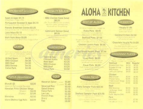 101 Kitchen Menu by Aloha Kitchen Menu 28 Images Great New Website Aloha Kitchen Aloha Kitchen Menu Menu For