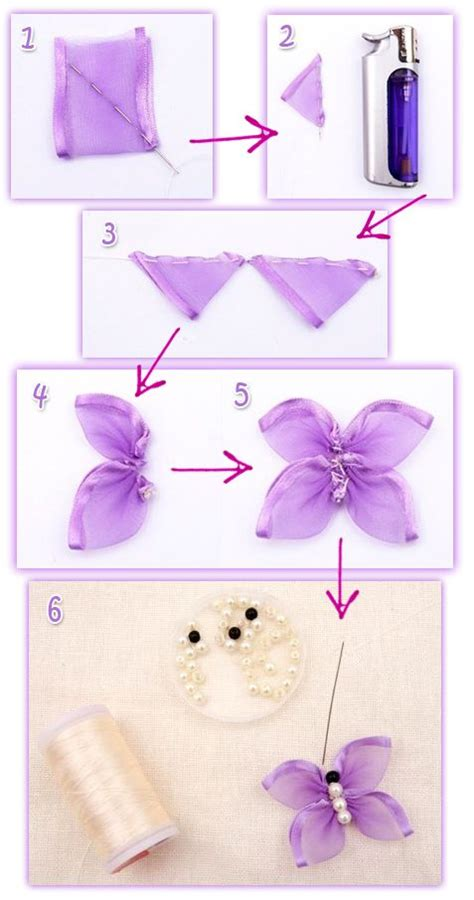 Handmade Butterfly Decorations - how to make ribbon butterfly handmade ribbon butterfly