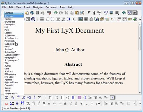 lyx tutorial for latex users latex david paredes