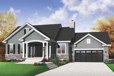 house plans with garage in front houseplans com traditional front elevation plan 23 791 2
