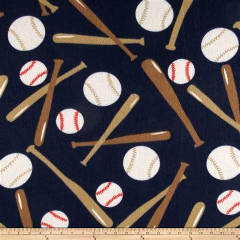 M Baseball Fleece sports fleece baseball balls and bats navy discount