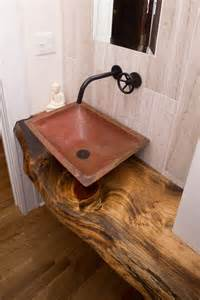 small powder room sinks small powder room sinks powder room craftsman with copper sink live edge beeyoutifullife com