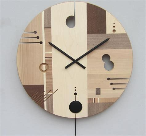 wohnzimmer wanduhren holz essential wooden wall clock with an exclusive design