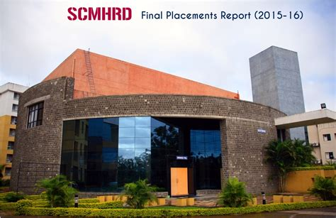 Scmhrd Mba by Scmhrd Placements Report Class Of 2014 16