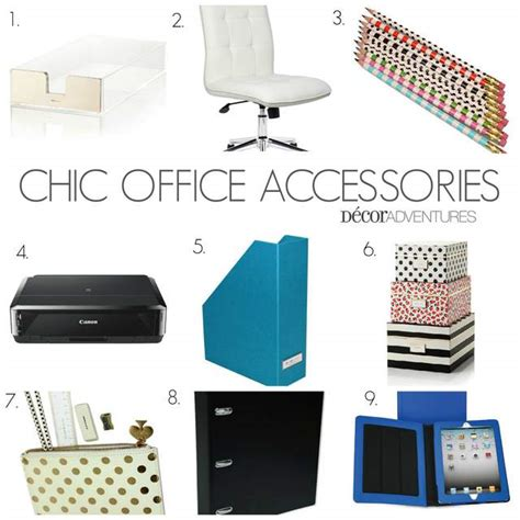 chic office supplies chic office accessories 187 decor adventures