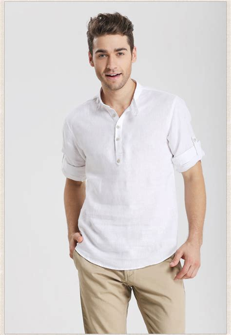 Wilson Kemeja Pria Slim Fit Formal Casual Style summer clothes shopping for