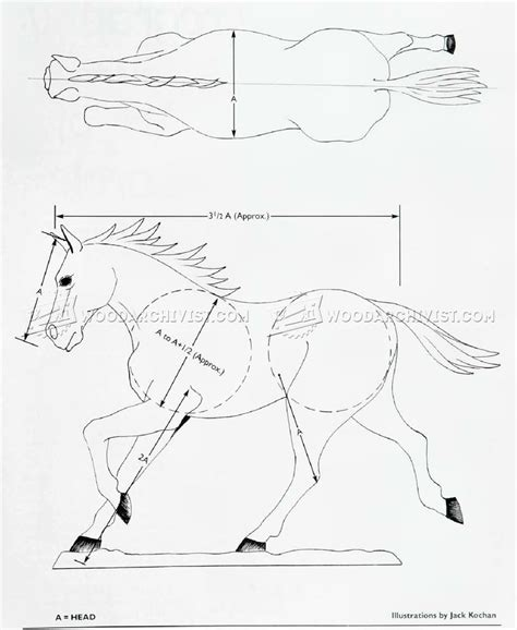 carving horse woodarchivist