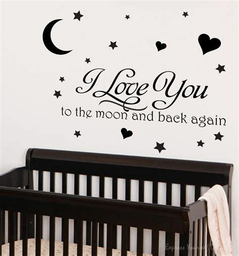 I Love You To The Moon And Back Nursery Wall Sticker I You To The Moon And Back Nursery Decor
