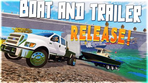farming simulator boat videos farming simulator 2015 bay boat and trailer release