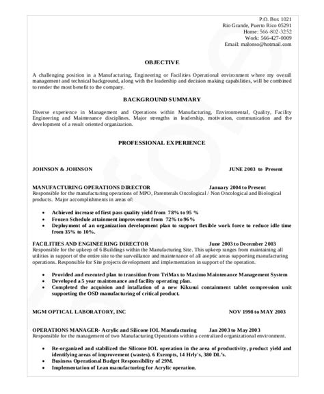 manufacturing resume sles cover letter for organization development consultant