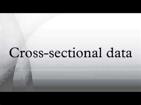 cross sectional data set cross sectional data youtube