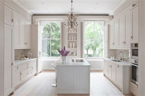 Ideas For White Kitchens white kitchen with large windows