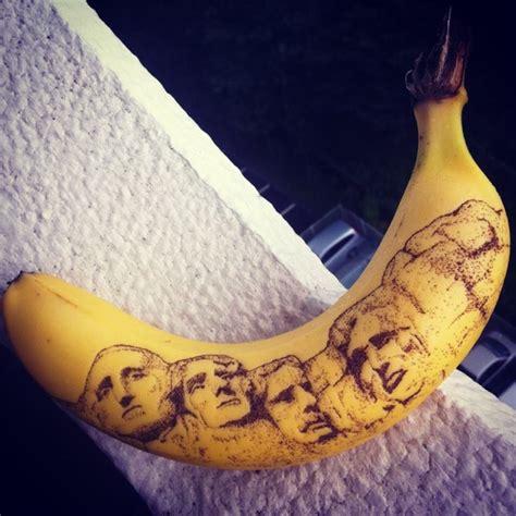 mount rushmore tattoo anorak artist creates these banana tattoos