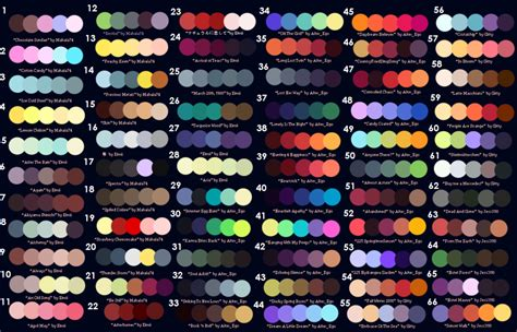 color pallete color palette challenge by justanotheraotfan on deviantart