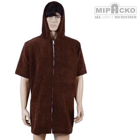 Handuk Dewasa handuk jaket dewasa microfiber hoodie tangan pendek