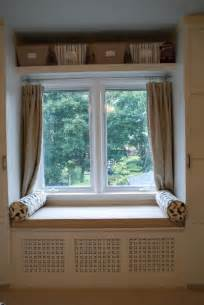 window seat curtains curtain ideas pinterest