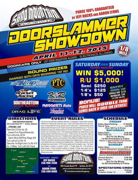 sand mountain dragway section alabama sand mountain dragway information drag race results