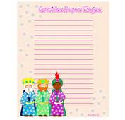 Carta A Los Reyes Magos Y P&225ginas Para Colorear  Navidad