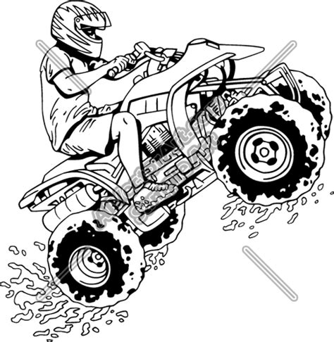 4 Wheeler Clipart Coloring Pages Four Wheeler