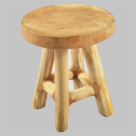 Wood C Stool by Deco Stool Wooden Sitting Plant Stand Solid