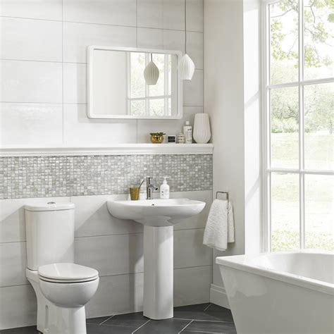 White Ceramic Bathroom Tile by 187 Bathroom Tiles Tilbury Tiles
