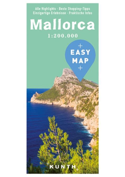 mallorca balearics spain 1 75 000 hiking map gps precise kompass books gran canaria urlaubskarte easy map kunth verlag