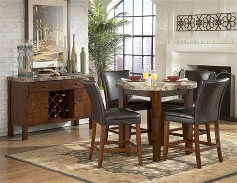 marble top counter height dining table homelegance achillea counter height dining table
