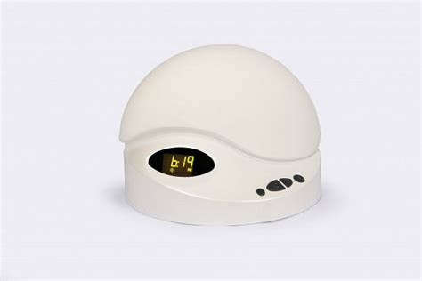 daavlin sunrise alarm light therapy dawn simulator clock