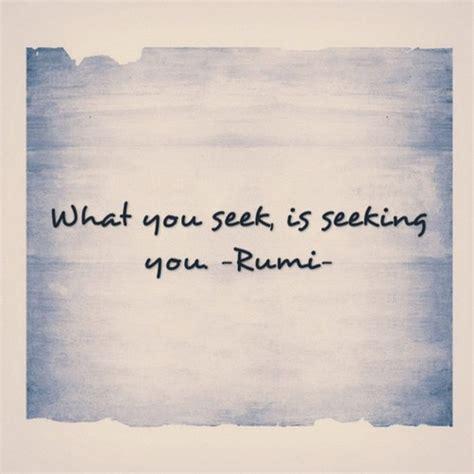 rumi what you seek is seeking you author zink