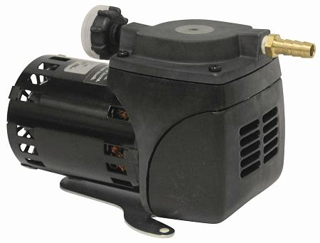 gast dc22 diaphragm pond air compressor 1 20 hp