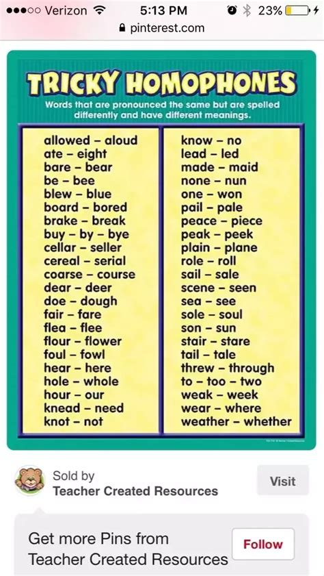 5 Letter Words And Their Meanings what are some homophones words with their meanings and