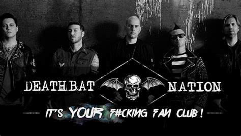 Avenged Sevenfold Deathbat deathbat nation it s your f cking fan club avenged