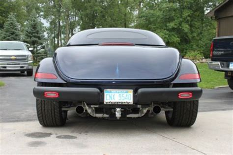 2001 chrysler plymouth prowler repair shop manual original sell used 2001 prowler midnight blue pear coat w matching trailer hard top cover stand in