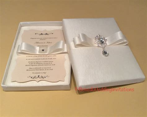 Wedding Invitations In A Box by Dangling Wedding Invitation