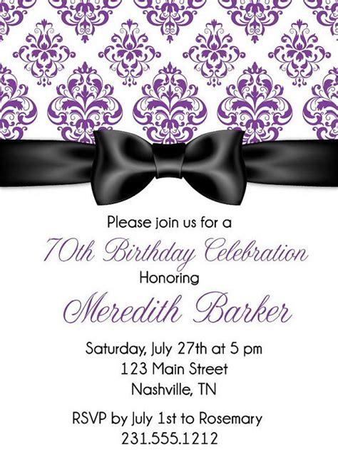 ribbon damask birthday invitation birthday invitation birthday invitations